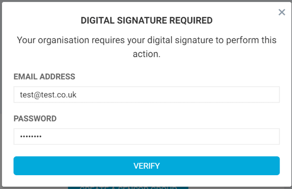 Digital Signature Sign In