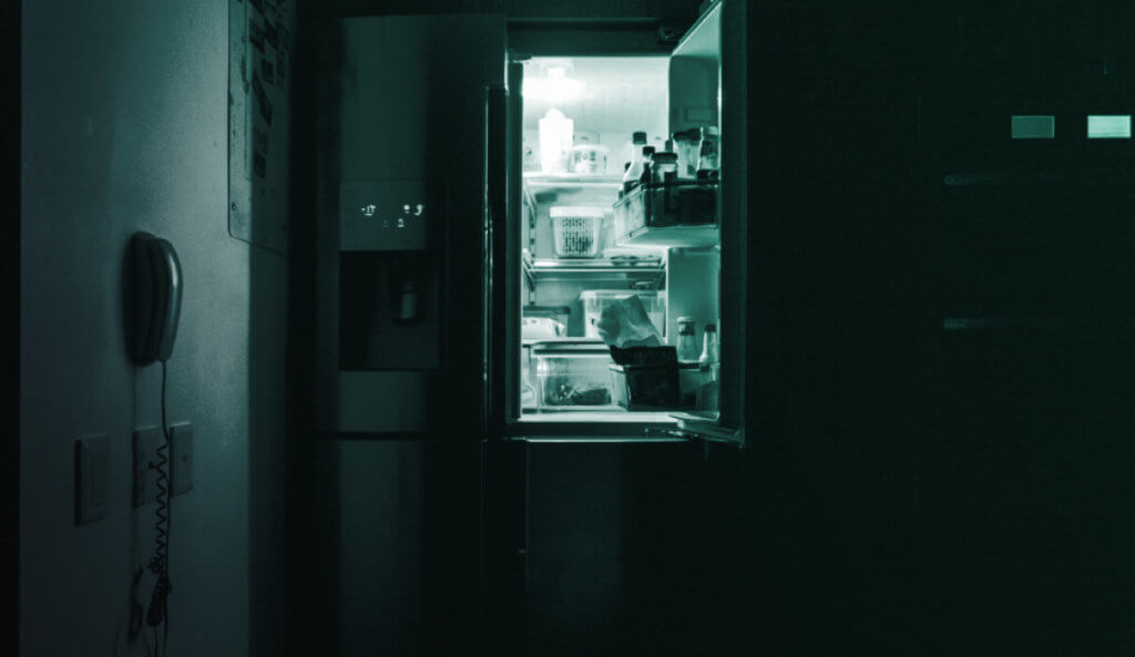 Open Fridge With Light On