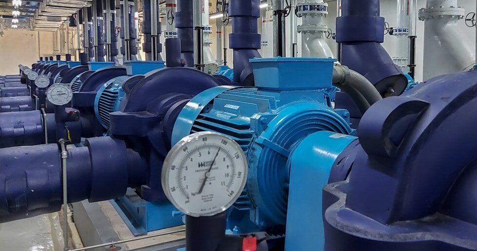 Heavy machinery such as water pumps can be monitored through the Hark Platform